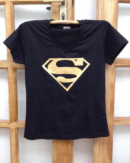 Baby Look - Camiseta Super Homem/ Super Man
