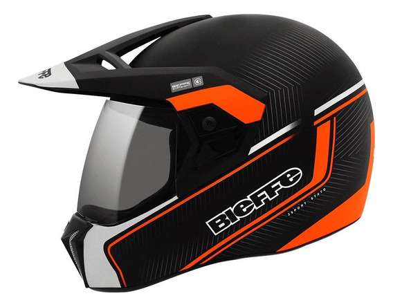 Capacete para moto integral Bieffe 3 Sport Stato laranja S