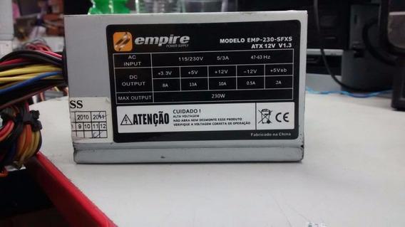 Mini Fonte 24 Pino + Sata Empire Modelo:emp-230-sfxs 230w