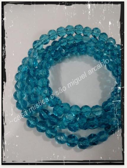 Guia De Cristal 126 Pedras Azul Iemanja Yemanja