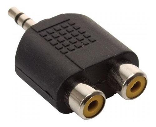 Adaptador Miniplug 3.5 Estereo A 2 Rca Hembra  Esdj