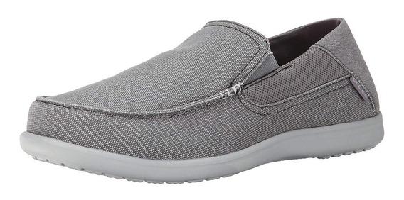 Zapato Crocs Caballero Santa Cruz Gris Talla 27 Mx Antes $1700