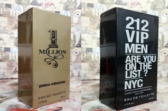Kit Promoção Perfumes Masculinos,1 Million /212 Vip Men