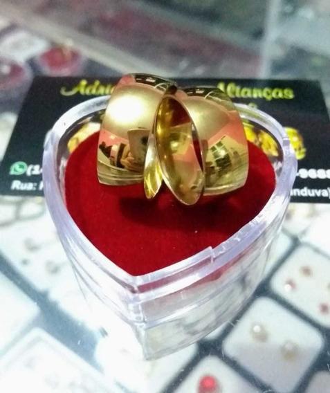 2 Alianças Folheadas Douradas