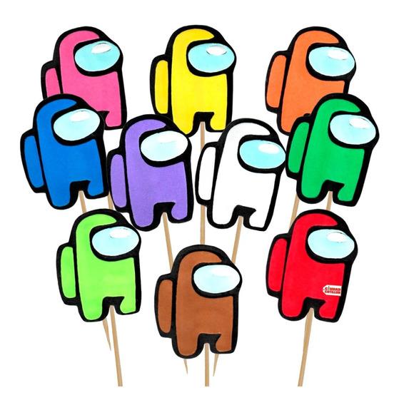 Pinche Among Us X 5 Cupcakes Tortas - Ciudad Cotillón