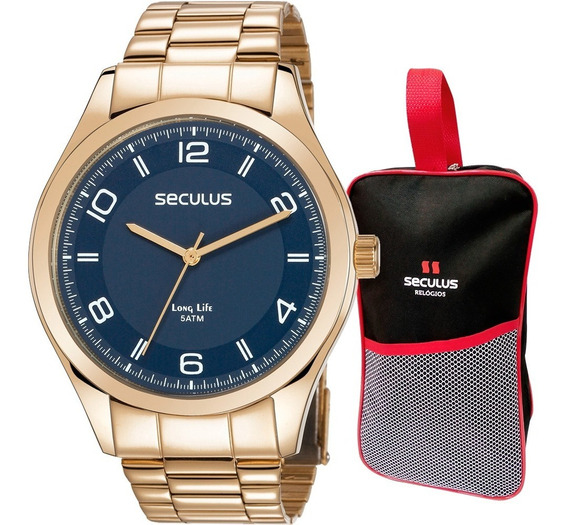 Relógio Seculus Masculino Original Barato Com Garantia