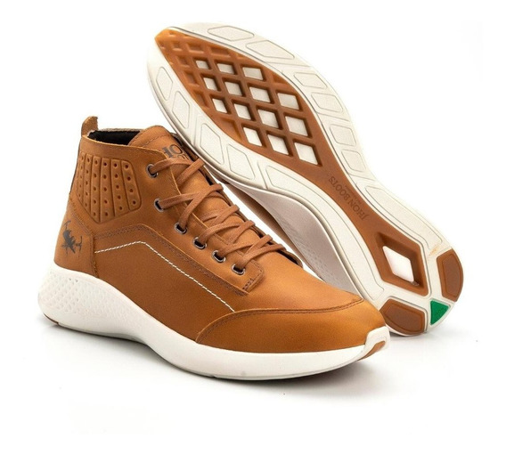 Tênis Masculino Em Couro Original Jhon Boots + Frete Gratis