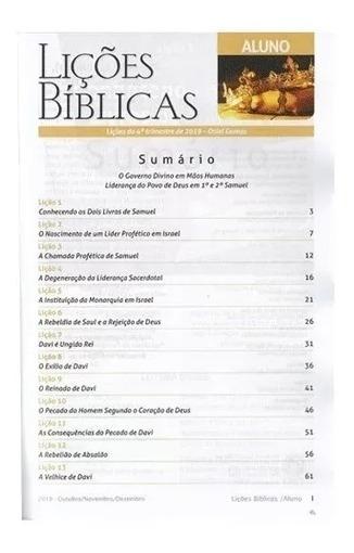 20 Revista Da Escola Dominical Cpad 3 Trimestre 4 Professor