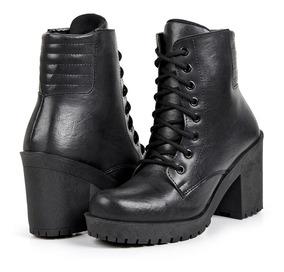 2c963039da Bota Coturno Salto Grosso Fosco Botas - Sapatos com o Melhores ...