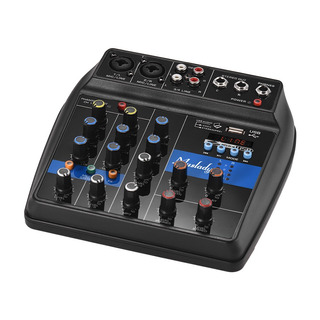 Consola Mezcladora Bt 4 Canales Portátil Muslady S-1 Digital