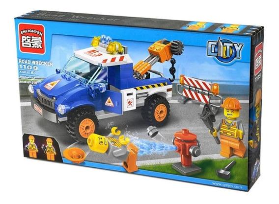 Set Armable Tipo Lego City Grua Vial 210 Piezas