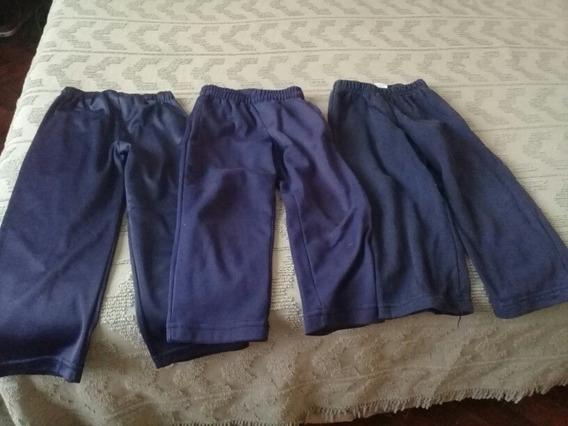 Tres Pantalones De Gimnasia Azules