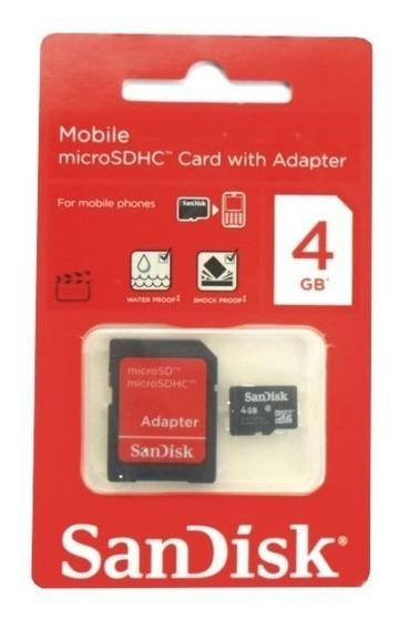 Cartão De Memória Sandisk Microsd 4gb