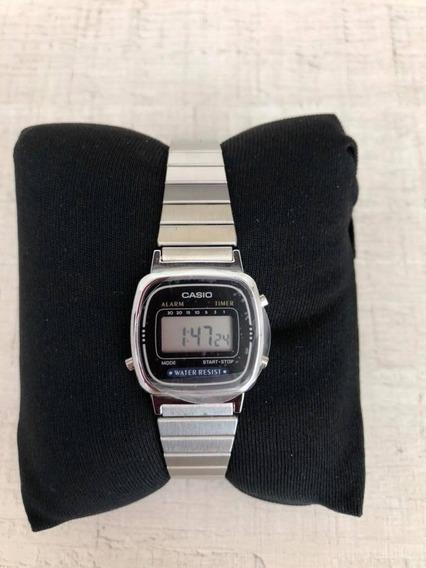 Relógio Casio 3191 Prata E Caixa Preta. Novo Promoção