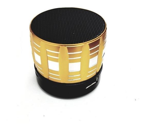 Mini Caixa De Som Portátil Bluetooth S13 Cor Dourada