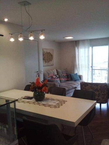 Imagem 1 de 30 de Lindo Apartamento Com 2 Dormitórios, Closet E 1 Suíte, Ampla Varanda, Cozinha Americana, 77 M², À Venda No Jd. Avelino - Ap1529