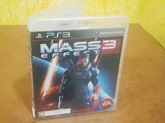 Mass Effect 3 Usado Encartes Ps3 Mídia Física.