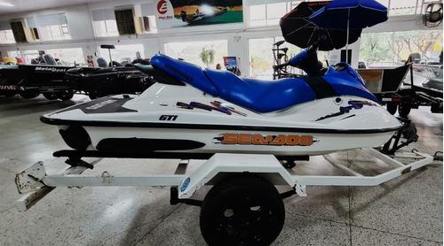 Imagem 1 de 10 de Jet Ski Sea-doo Gti 2004 C/ Carreta Somente Agua Doce 2 Temp