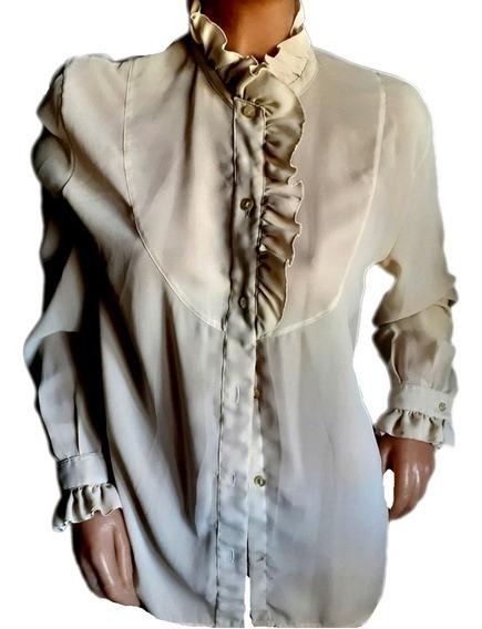 Camisa Verano Polyester, Romàntica...talle L