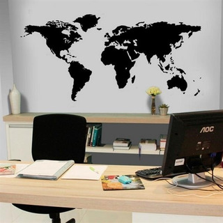 Adesivo Papel Parede Mapa Mundi Mundo Viagens Pronta Entrega