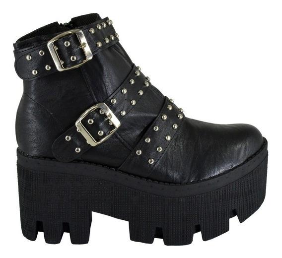 Zapatos Botas Mujer Con Tachas