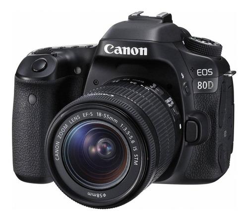 Canon EOS 80D 18-55mm IS STM Kit DSLR cor preto