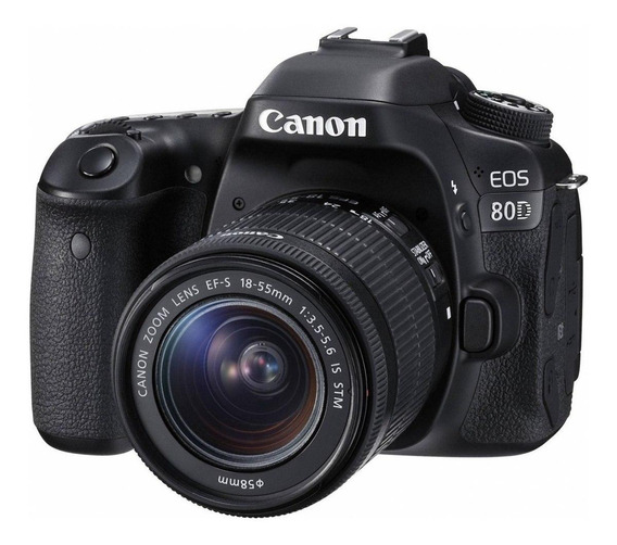 Canon EOS 80D 18-55mm IS STM Kit DSLR cor preto