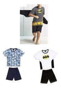 Pijama Original Lupo Infantil Disney Batman, Mickey! Meninos