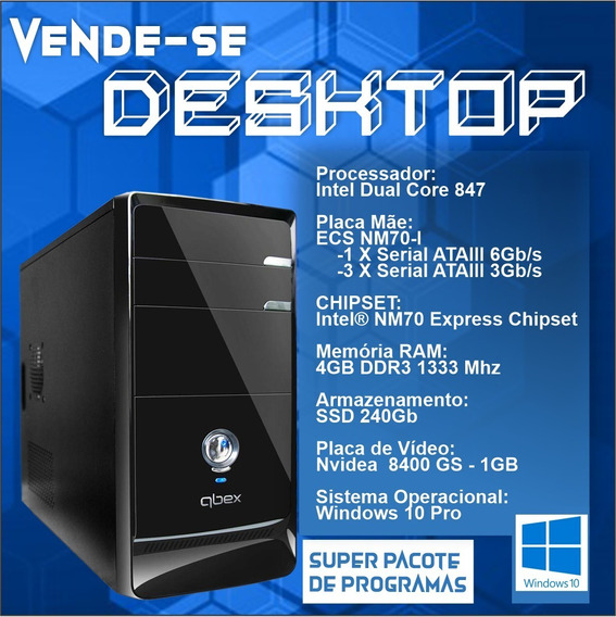 Cpu / Desktop Computador Qbex - Dual Core Com Ssd *promoção