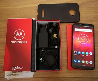 Moto Z3 Play Indigo + Capa + Película Seminovo