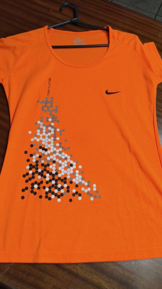 Remera Deportiva Naranja Fluor T Medium