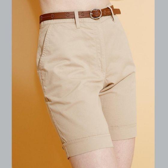 Short Casual Corto Con Bolsas Y Cinturon Para Dama.