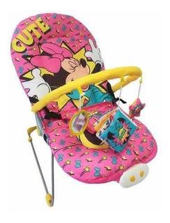 Silla Vibradora Musical Bebé Bouncer Minnie Mouse Disney