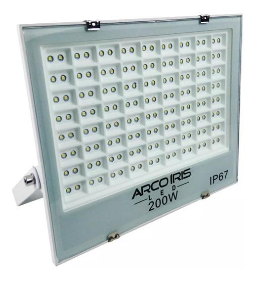 Refletor Led Slim 200w Multifocal Branco Frio Ip67 Original