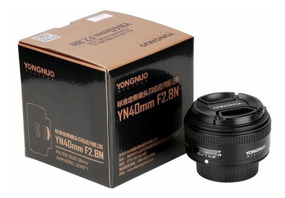 Lente Yongnuo Yn-40mm F2.8n Para Câmeras Nikon Yn-40mm F2.8