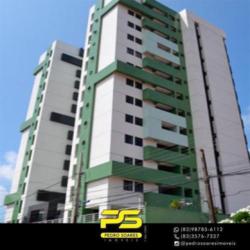Apartamento Com 3 Dormitórios À Venda, 91 M² Por R$ 396.000 - Estados - João Pessoa/pb - Ap3112