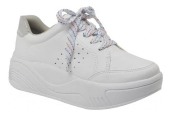 Zapatillas Mujer Blancas Plataforma Vía Marte 18-18103