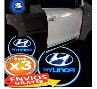 Pack 3 Logo Led Cortesia Puerta Auto Tunning