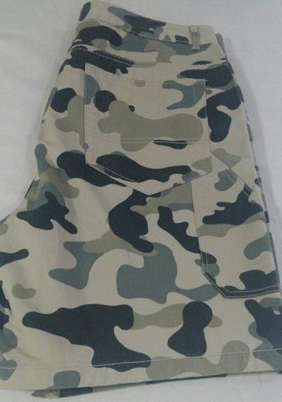 Pantalón Bermudas Camuflajeado Bershka Nuevo Talla 34 Leer