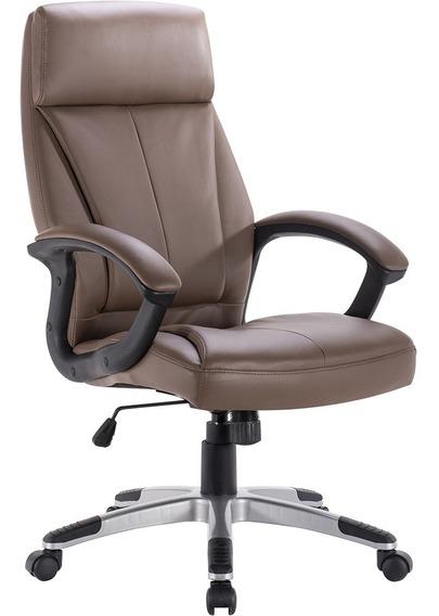 Cadeira Para Escritório Exeway Estofada, Marrom