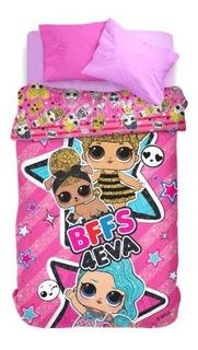 Acolchado Reversible 1 1/2 Piñata Infantil Disney Nene Nena