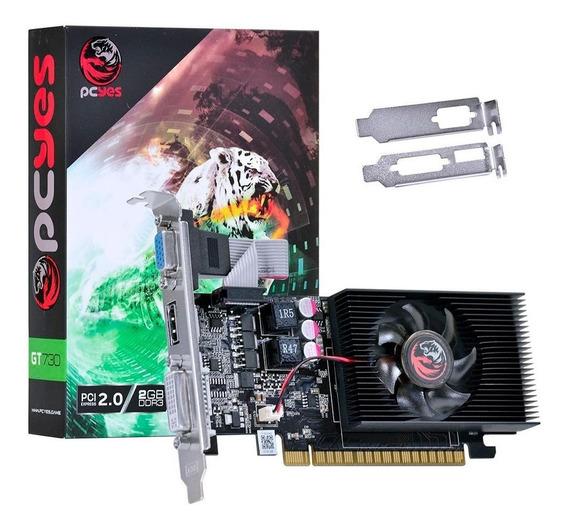 Placa De Video Nvidia Geforce Gt 730 2gb Ddr3 128 Bits C/ Hdmi E Cooler + Espelhos Low Profile / Perfil Baixo