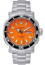 Relógio Orient Automático Visor Laranja 469ss040 Lindo