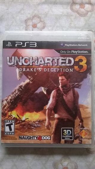 Uncharted 3 Para Playstation 3 Mídia Física (semi Novo)