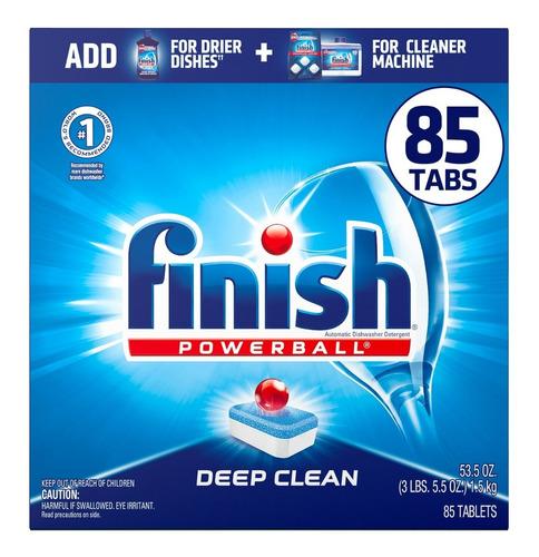 Finish Powerball 85 Tabs Deep Clea - Unidad a $1412