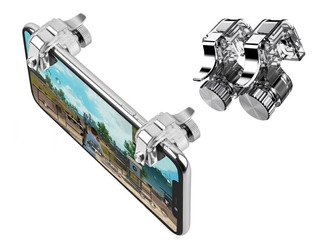 Gatillos Botones Control Celular L1 R1 Pubg Metal Ajustable