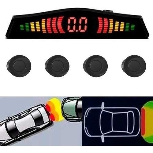 Sensor De Estacionamento Preto Fosco Meia Lua Display Led
