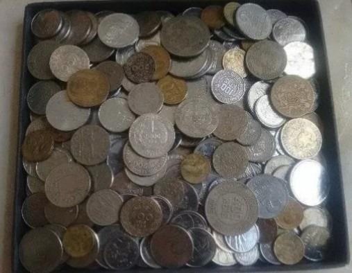300 Moedas Nacionais(prata,bronze,níquel)