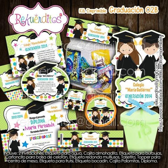 Kit Imprimible Diplomas Candy Egresados Jardin Kdkt0188