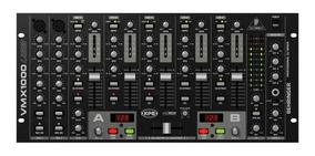 Mixer Dj Behringer Vmx1000 7 Canais Com Entrada Usb E Duplo